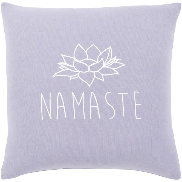 Motto Cotton Pillow Cover by Surya