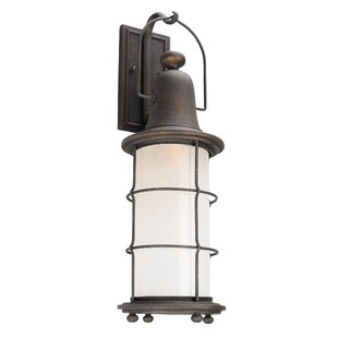 Check Prices Farrell 1-Light Vintage Bronze Outdoor Wall Lantern By Longshore Tides