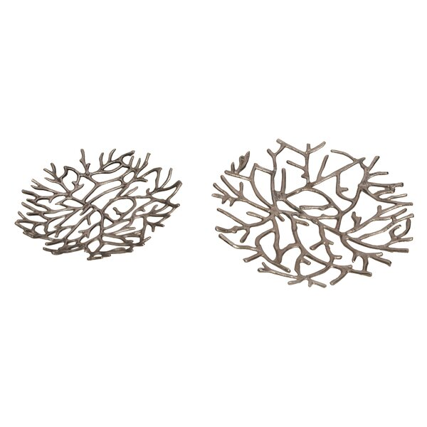 Richmond Twig Platter (Set of 2) by Rosecliff Heights