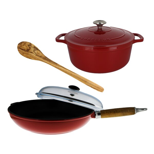5 Piece Enameled Cookware Set by Chasseur