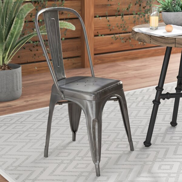 Clever Patio Dining Chair by Mercury Row