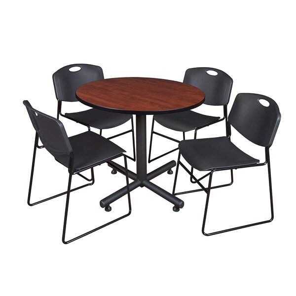 Marin 36 Round 5 Piece Breakroom Table and Chair Set by Symple Stuff