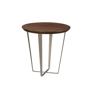 Antigone End Table with Metal Base by Ivy Br..