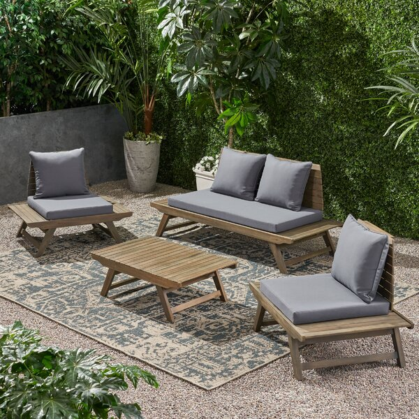 Aticus 4 Piece Sofa Seating Group with Cushions by George Oliver