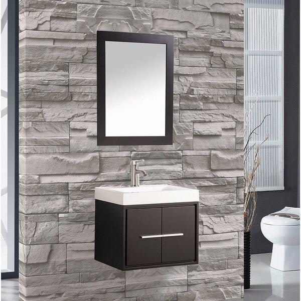 Peirce 24 Single Floating Bathroom Vanity Set with Mirror by Orren EllisPeirce 24 Single Floating Bathroom Vanity Set with Mirror by Orren Ellis