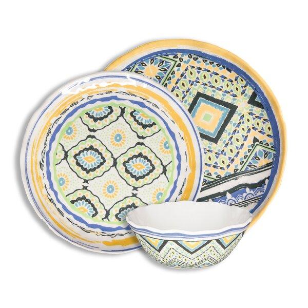 Porto Santo Assorted 12 Piece Melamine Dinnerware Set, Service for 4 by 222 Fifth