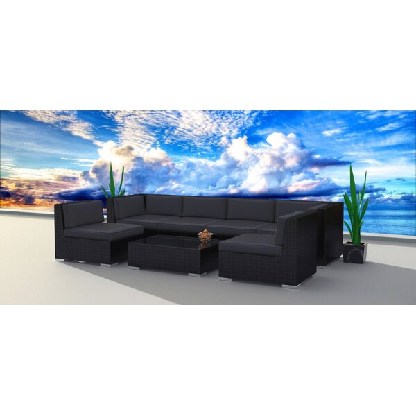 Kirkland 7 Piece Sectional Seating Group with Cushions Brayden Studio W000061895