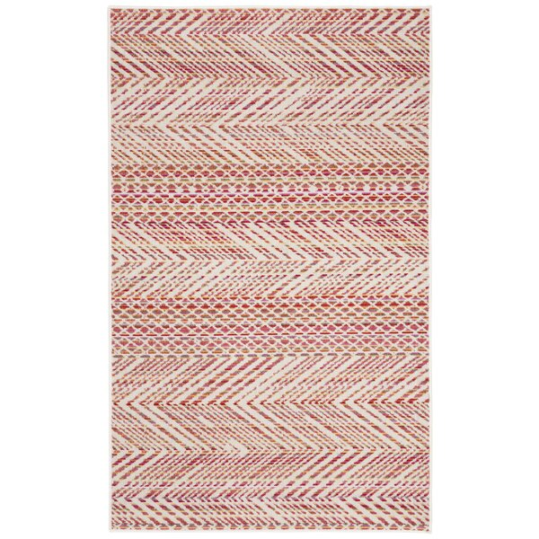 Griffeth Pink/Beige Indoor/Outdoor Area Rug by Bungalow Rose