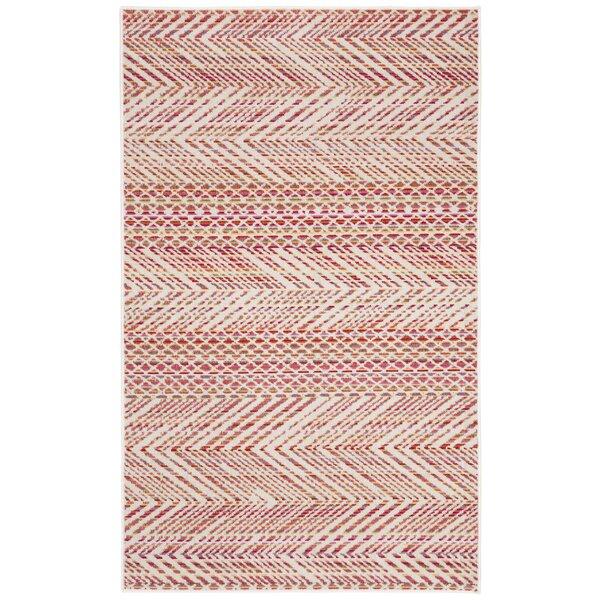 Griffeth Pink/Beige Indoor/Outdoor Area Rug by Bun