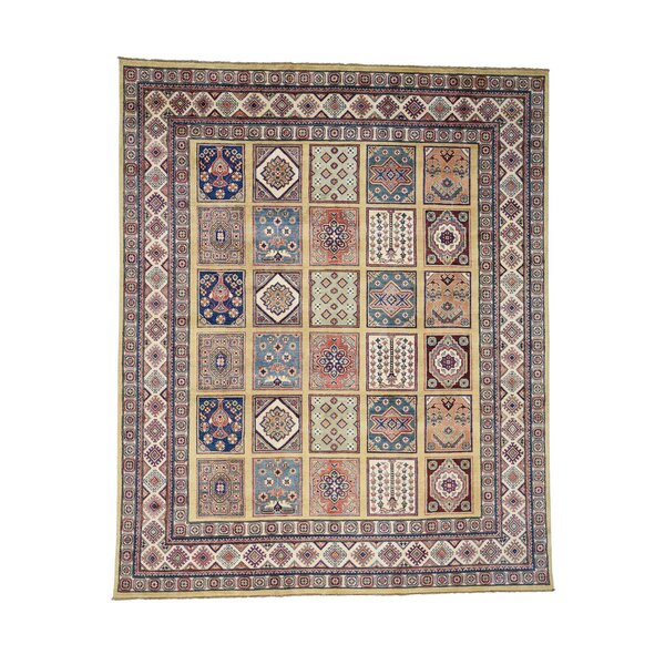 One-of-a-Kind Tillotson Special Hand-Knotted Beige/Navy Blue Area Rug by Millwood Pines