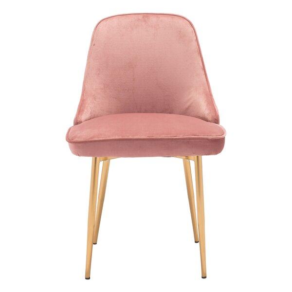 Coleshill Dining Chair Navy Velvet by Everly Quinn
