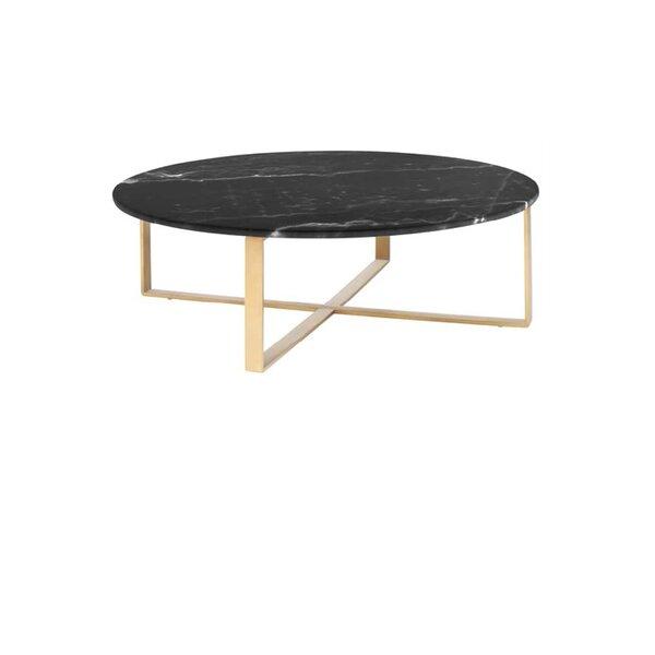 Swinehart Cross Legs Coffee Table By Everly Quinn