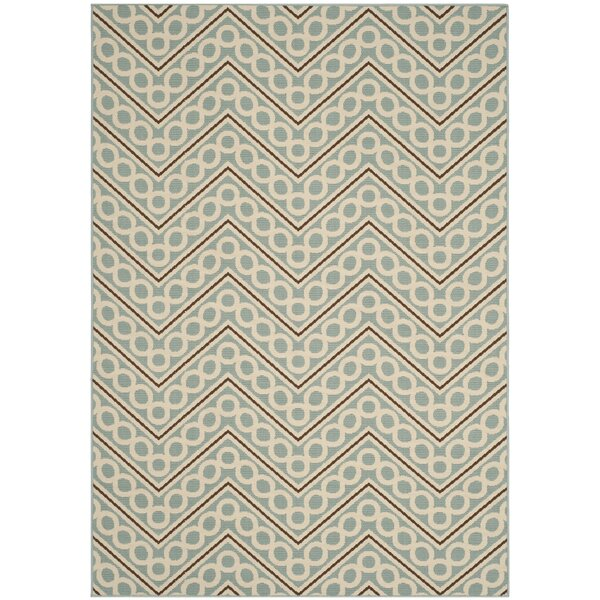 Hampton Light Blue/Ivory Outdoor Area Rug by Safavieh