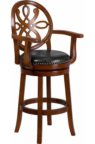 Rouillard 30'' Swivel Bar Stool by Astoria Grand
