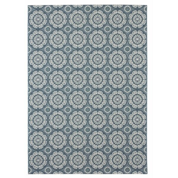 Frison Blue/Gray Indoor/Outdoor Area Rug by Charlton Home
