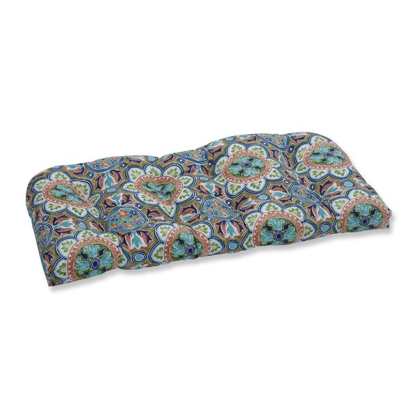 Tile Flamingo Indoor/Outdoor Loveseat Cushion by Charlton Home