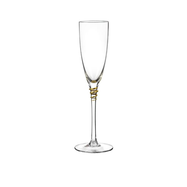 Helix Flute Glass (Set of 4) by Qualia Glass