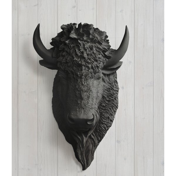 Yellowstone Faux Taxidermy Bison Buffalo Head Wall Décor by Wall Charmers