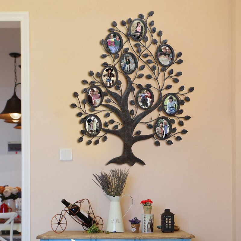 Myrasol 10 Opening Decorative Family Tree Wall Hanging Collage ...