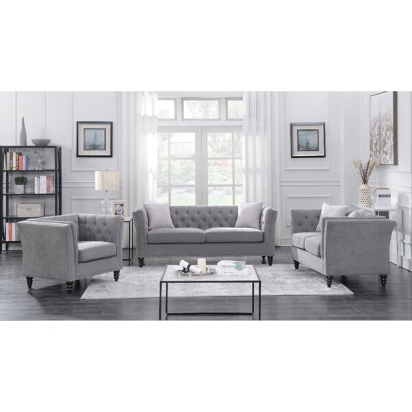 Works 3 Piece Living Room Set by House of Hampton