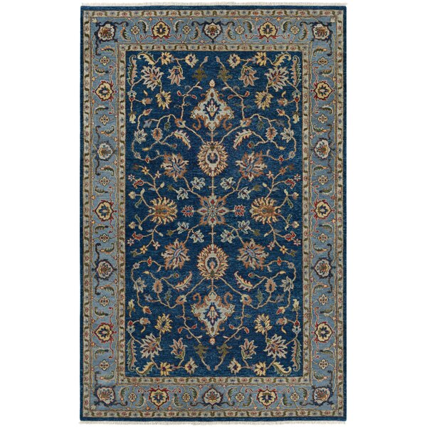 Harwich Hand-Knotted Sapphire Area Rug by Darby Home Co