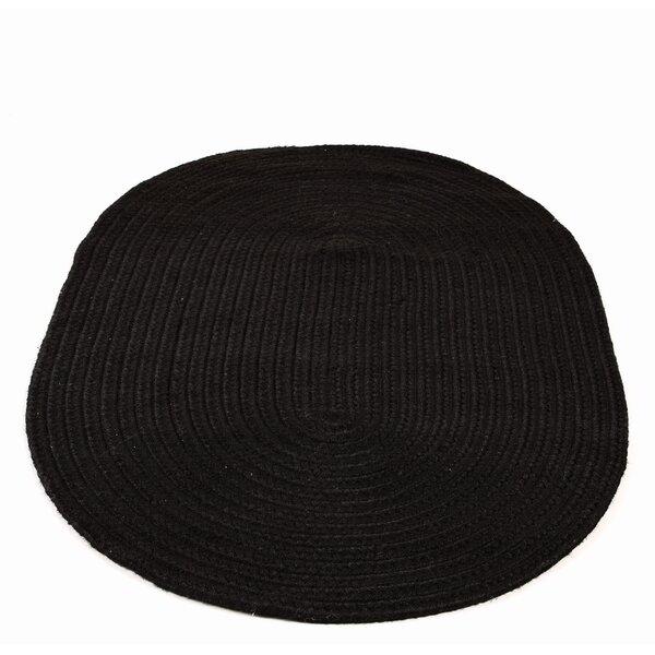 Odwyer Handmade Braided Black Indoor / Outdoor Area Rug