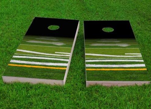 Football Field Cornhole Game (Set of 2) by Custom Cornhole Boards