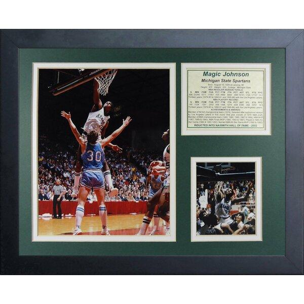 Magic Johnson - Michigan State Framed Memorabilia by Legends Never Die