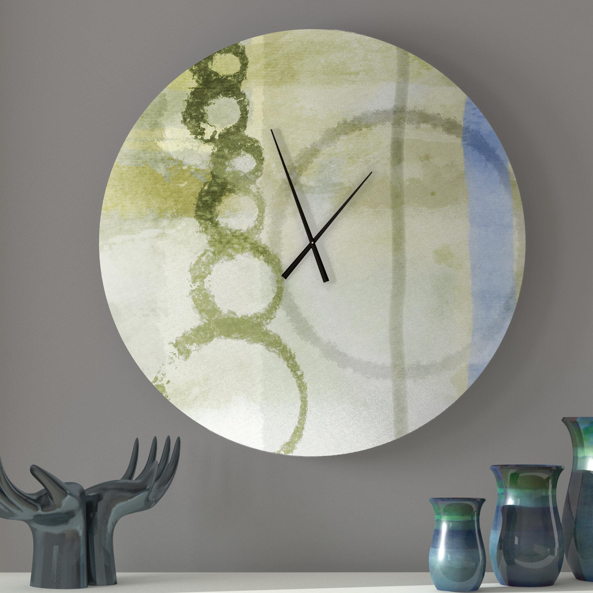 Latitude Run Kissable Reliable Abstract Metal Wall Clock Wayfair