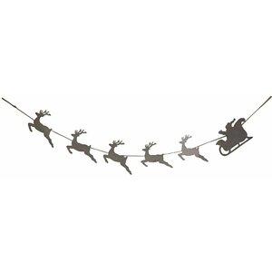Reindeer Santa Banner