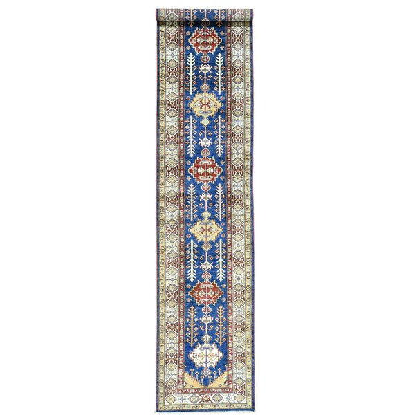 One-of-a-Kind Tillett Super Hand-Knotted Denim Blue Area Rug by Millwood Pines