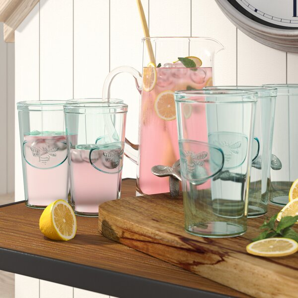 Bumblebee Highball Glasses (Set of 6) by Birch Lane™
