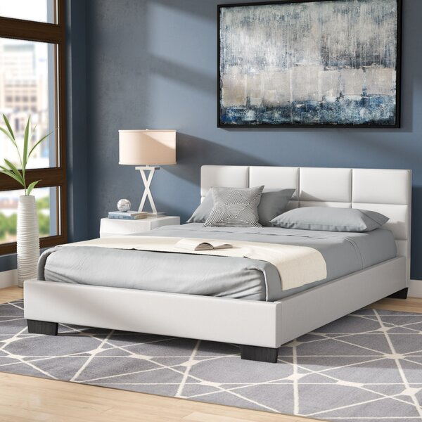 Helmick Upholstered Platform Bed by Wade Logan