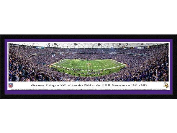 NFL Minnesota Vikings - 50 Yard Line - Finale by Christopher Gjevre Framed Photographic Print by Blakeway Worldwide Panoramas, Inc