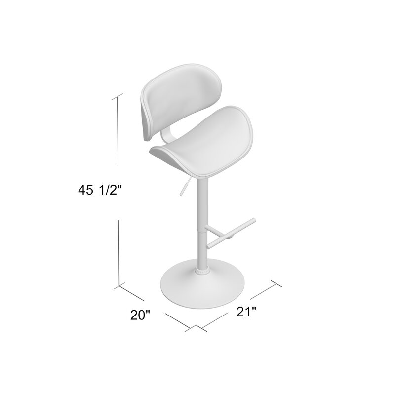 Bissett Adjule Height Swivel Bar Stool