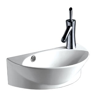 Find for Isabella Vitreous China 18 Wall Mount Bathroom Sink with Overflow ByWhitehaus Collection
