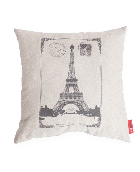 Luxury Paris  Linen Throw Pillow by Posh365