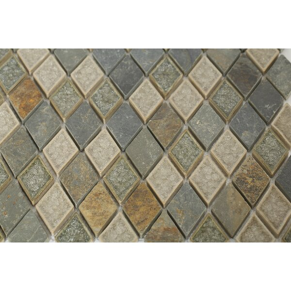 Roman Selection Glass Mosaic Tile in Gray by Splashback Tile