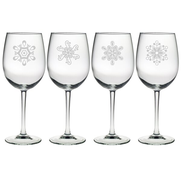 Abstract Snowflakes 19 oz. Wine Glass by Susquehanna Glass