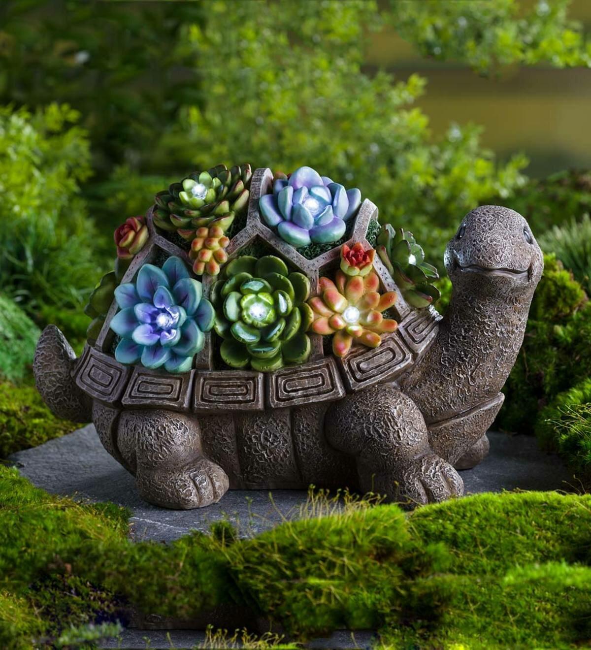 Garden Statues & Lawn Ornaments TURTLE ANIMAL GARDEN ...
