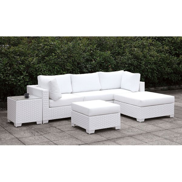 Cleymans 3 Piece Sectional Seating Group with Cushions by Brayden Studio