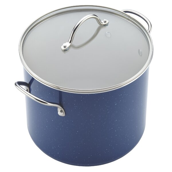 Farberware New Traditions Ceramic Cookware 12 Qt. Stock Pot with Lid by Farberware
