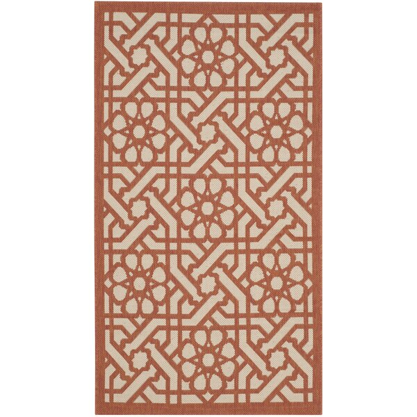 Triumph Cayenne Red/Beige Indoor/Outdoor Area Rug by Martha Stewart Rugs