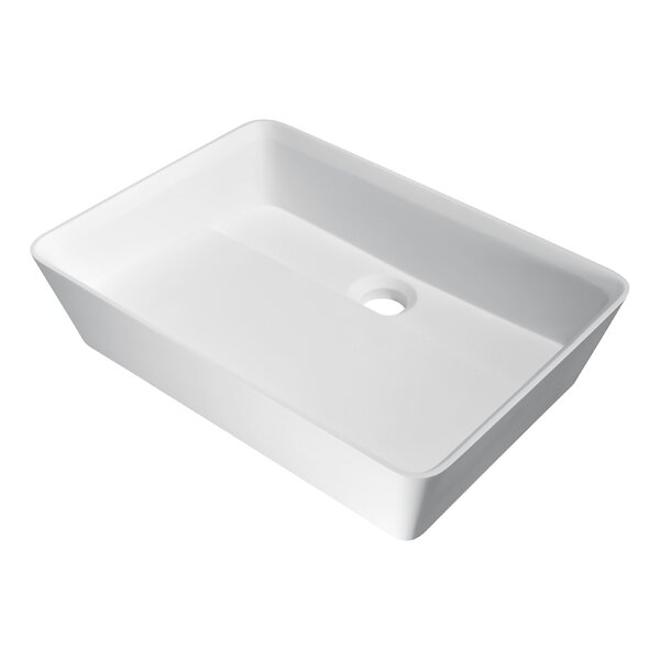 Sharon Plastic Rectangular Vessel Bathroom Sink by ANZZI