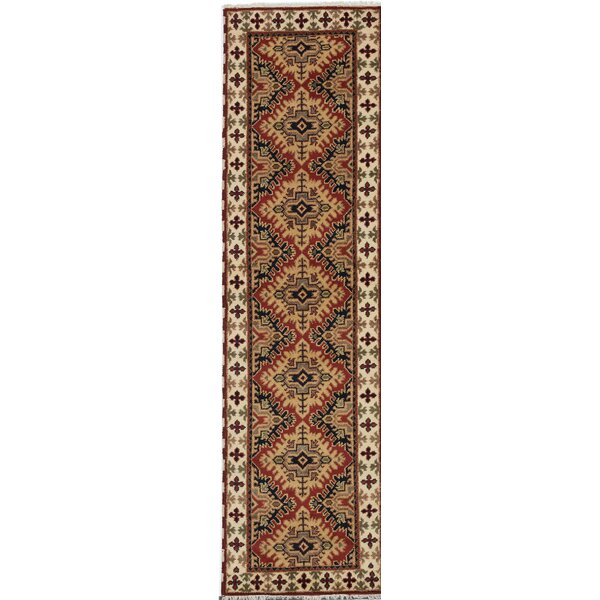 One-of-a-Kind Doering Hand-Knotted Brown Area Rug by Isabelline