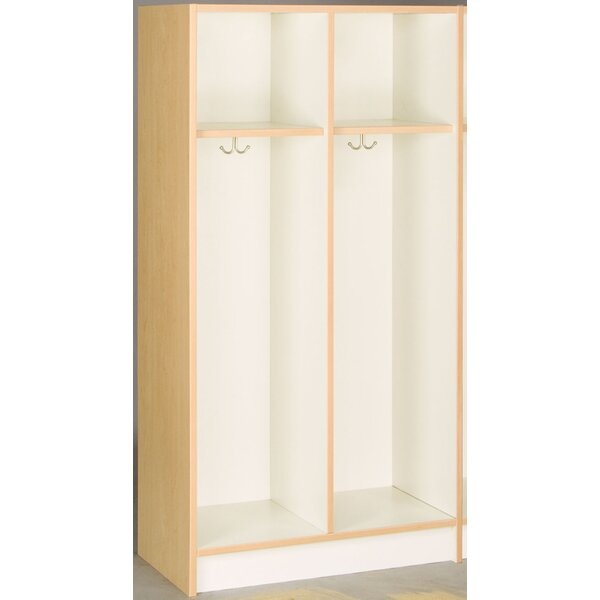 2 Tier 2 Wide Preschool Locker by Stevens ID Systems