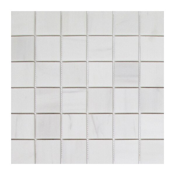 Soft Touch 2 x 2 Marble Mosaic Tile in White by Seven Seas