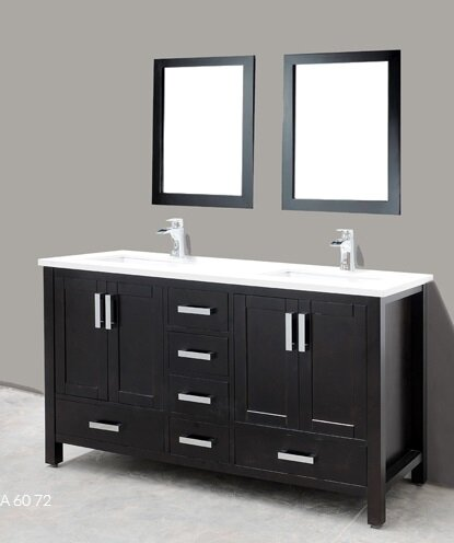 Astoria 60 Double Bathroom Vanity Set with Mirror by Adornus