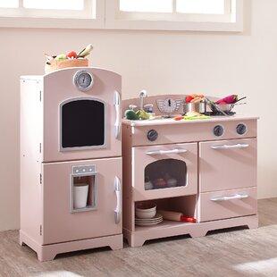 2 Piece Wooden Play Kitchen Set