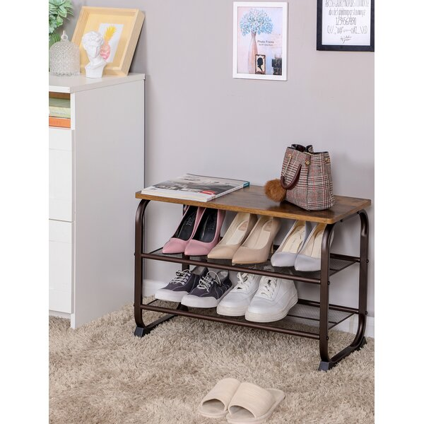 7 Pair Shoe Storage Bench